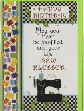 Happy Birthday Card - Sewing Machine