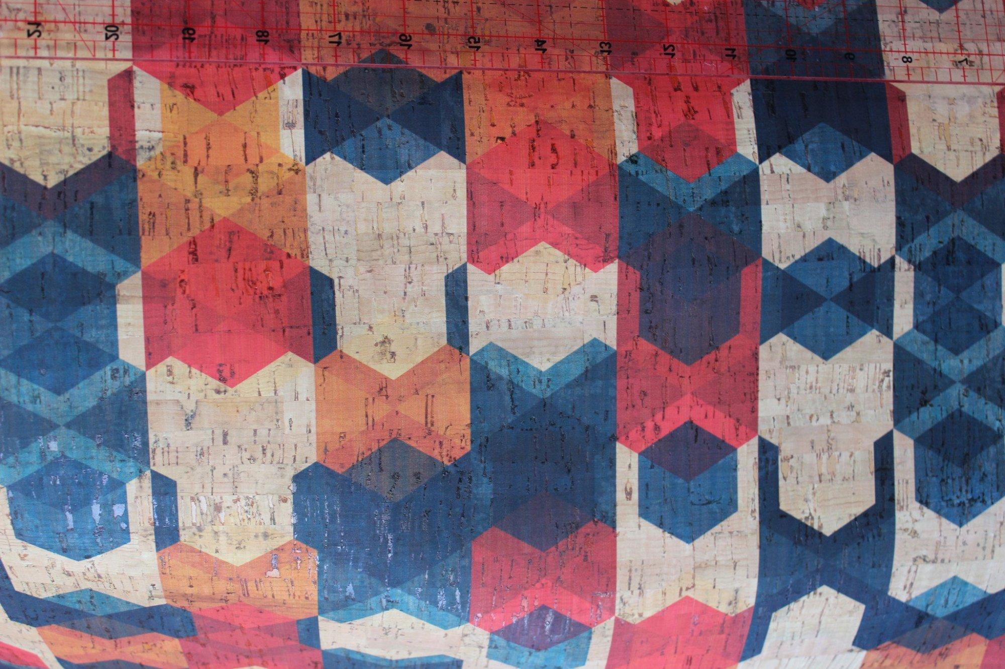 Printed Geometrics Cork Fabric (36x36)