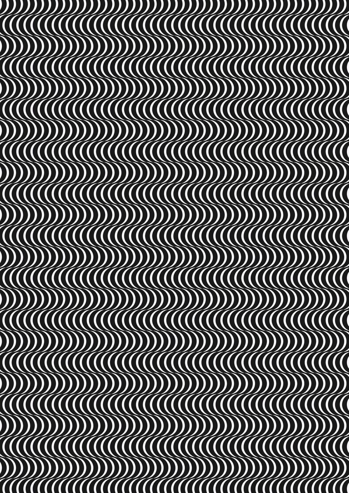 Lewis & Irene Geometrix - Black/White Scallops - GX3.1