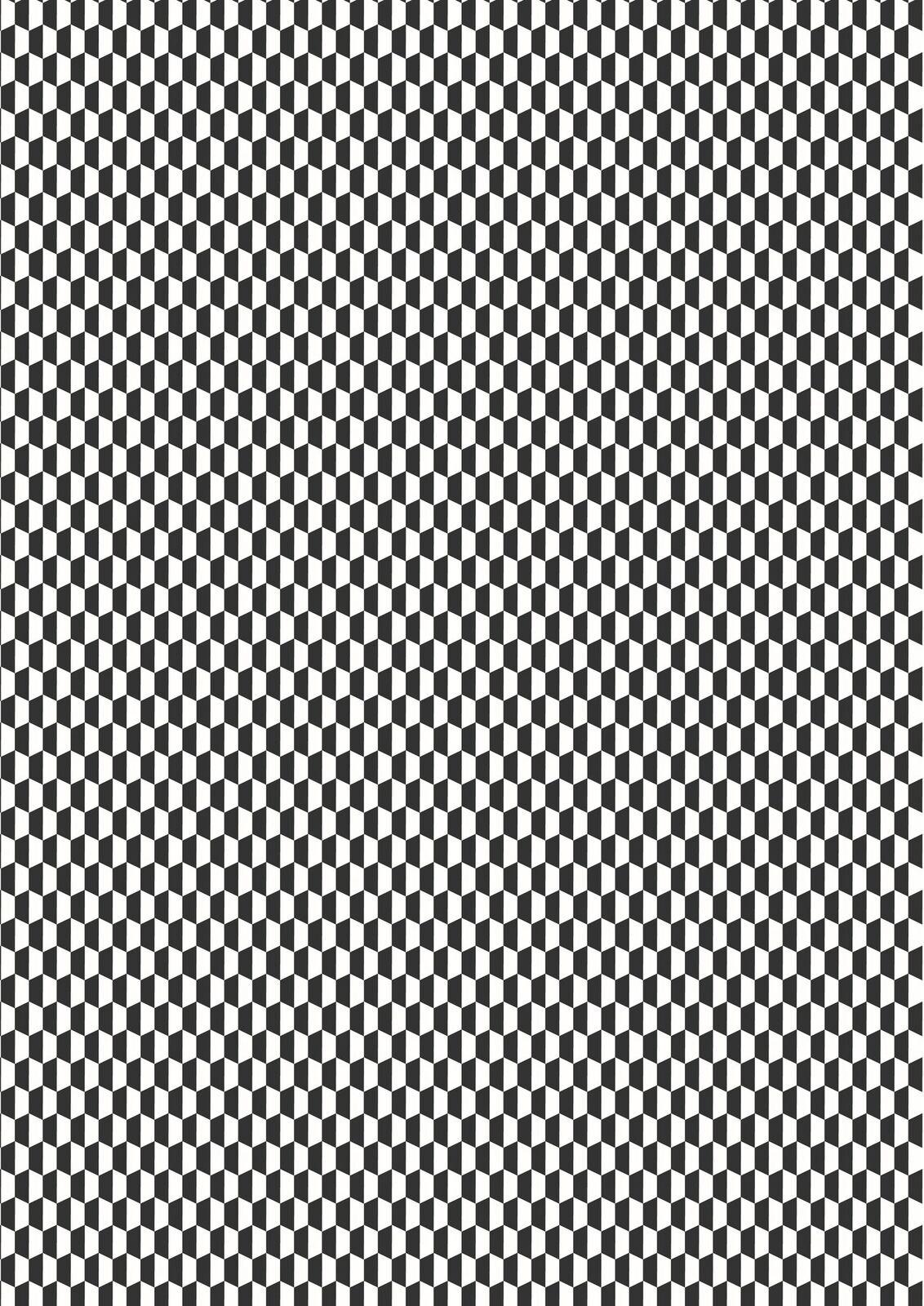 Lewis & Irene Geometrix - Black/White Hex- GX4.1