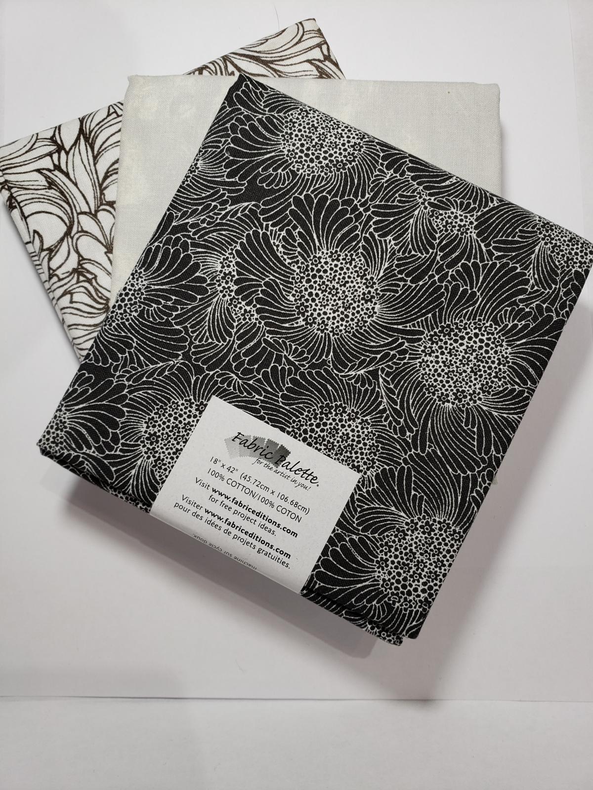 Half Yard Bundles (3 x 18x42) Black & White