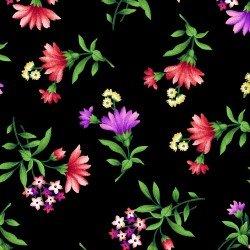 Henry Glass Botanica Blooms Black Flower