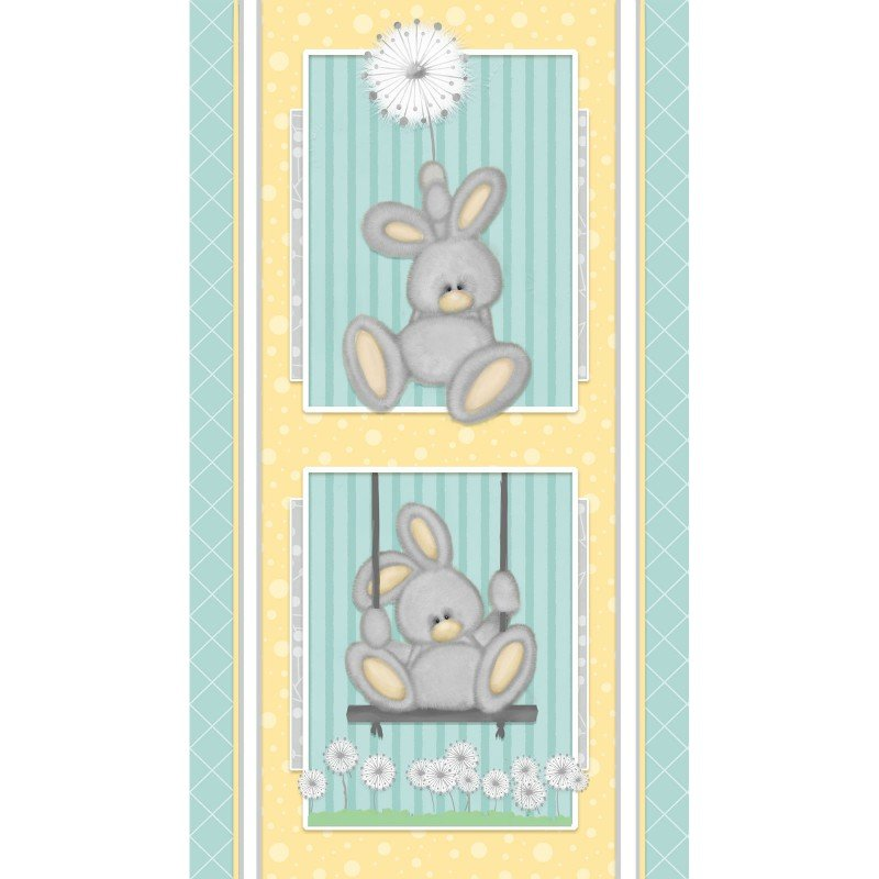 Shelly Comiskey - Fluffy Bunny Flannel - Panel