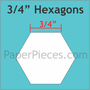 3/4 Hexagon