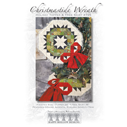 Christmastide Wreath Holiday Topper & Tree Skirt Pattern