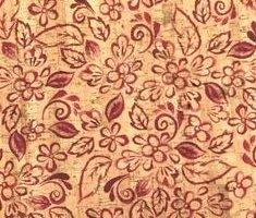 Printed Batik Floral Cork Fabric (18x18)