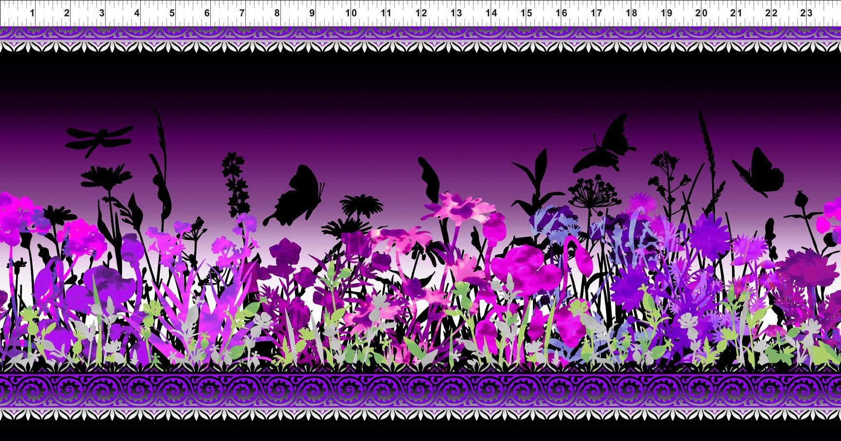 Jason Yenter Dreamscapes II Border Print Purple