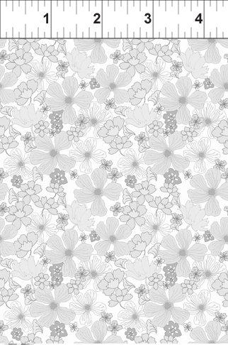Garden Delights Floral Grey Poppy