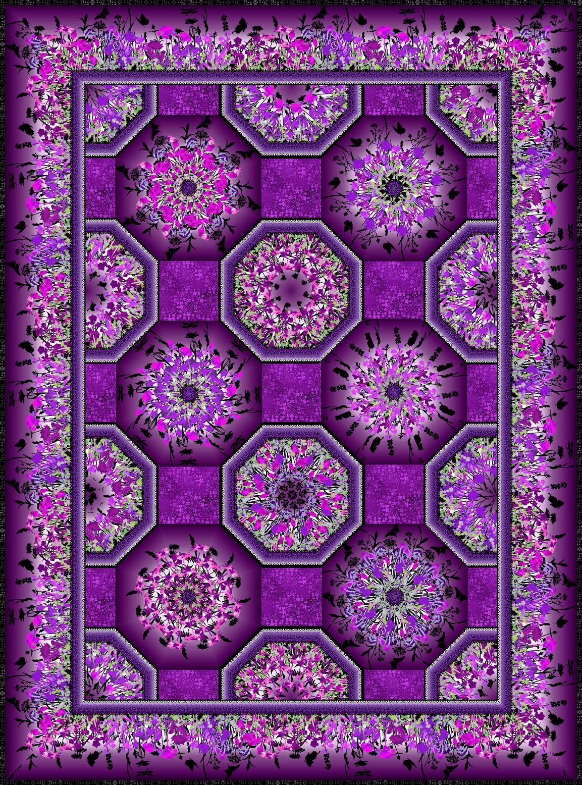 Jason Yenter Dreamscapes II One-Fabric Kaleidoscope Pattern