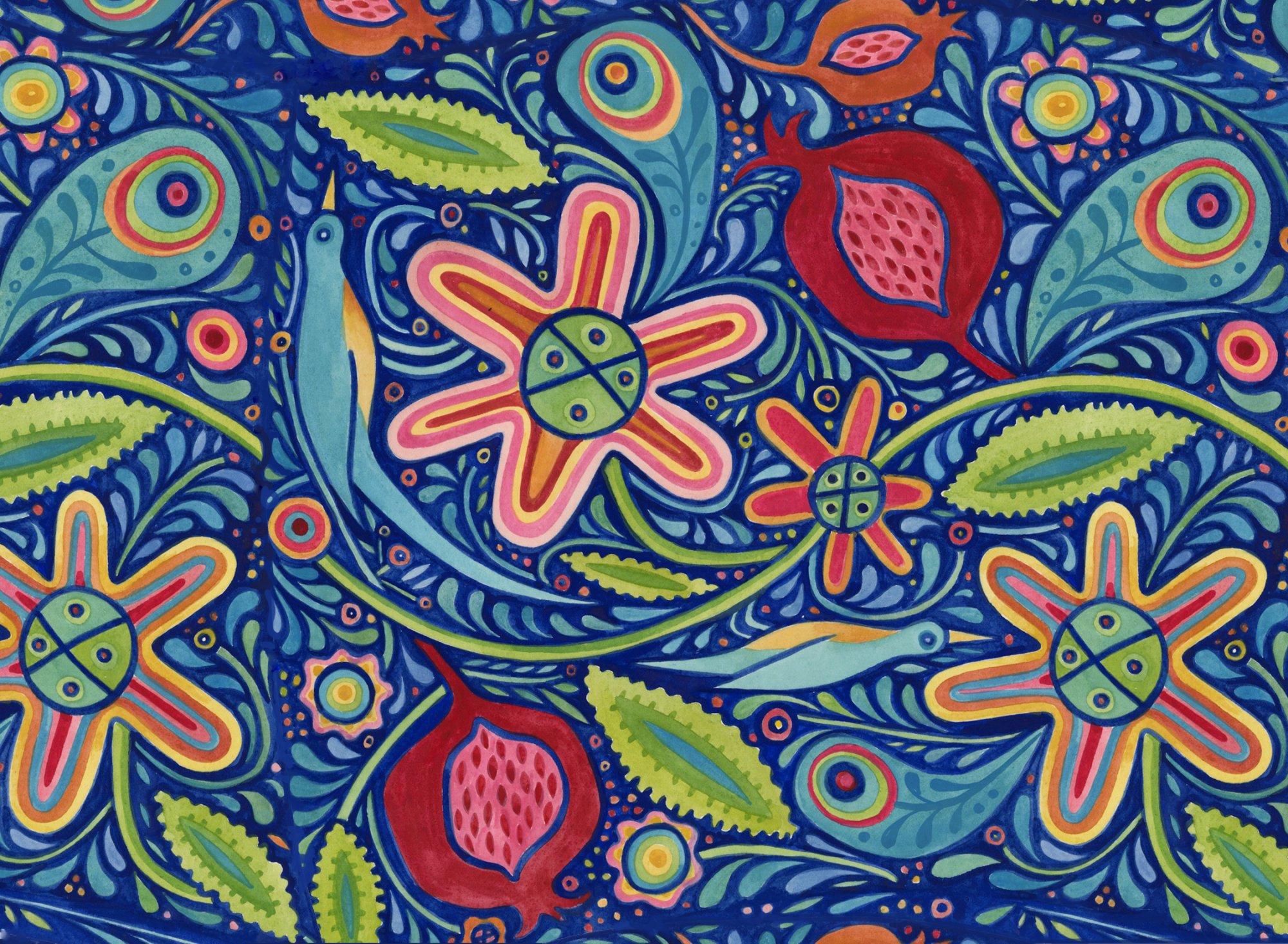 Julie Paschkis Azuli 2JPG1 Multi Flowers