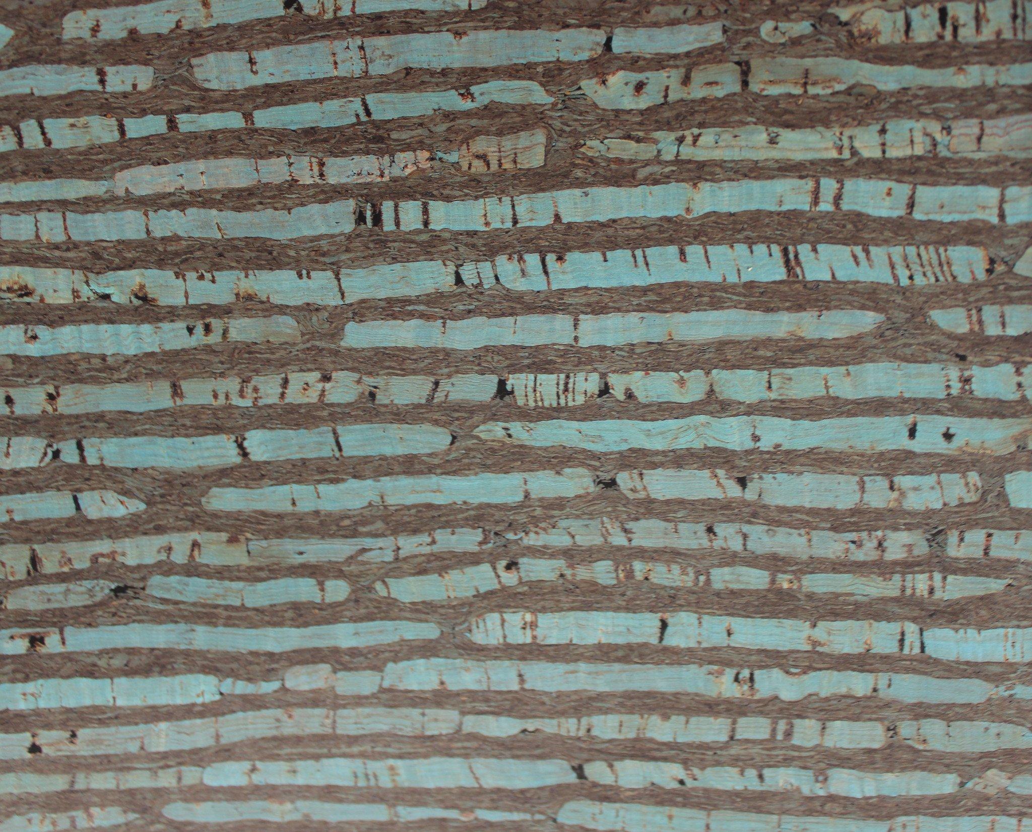 Jade in Blue Cork Fabric (18x18)