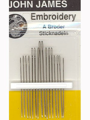 John James Embroidery Needles Size 5/10 16 Count