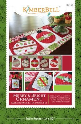 Merry & Bright Ornament Table Runner Pattern