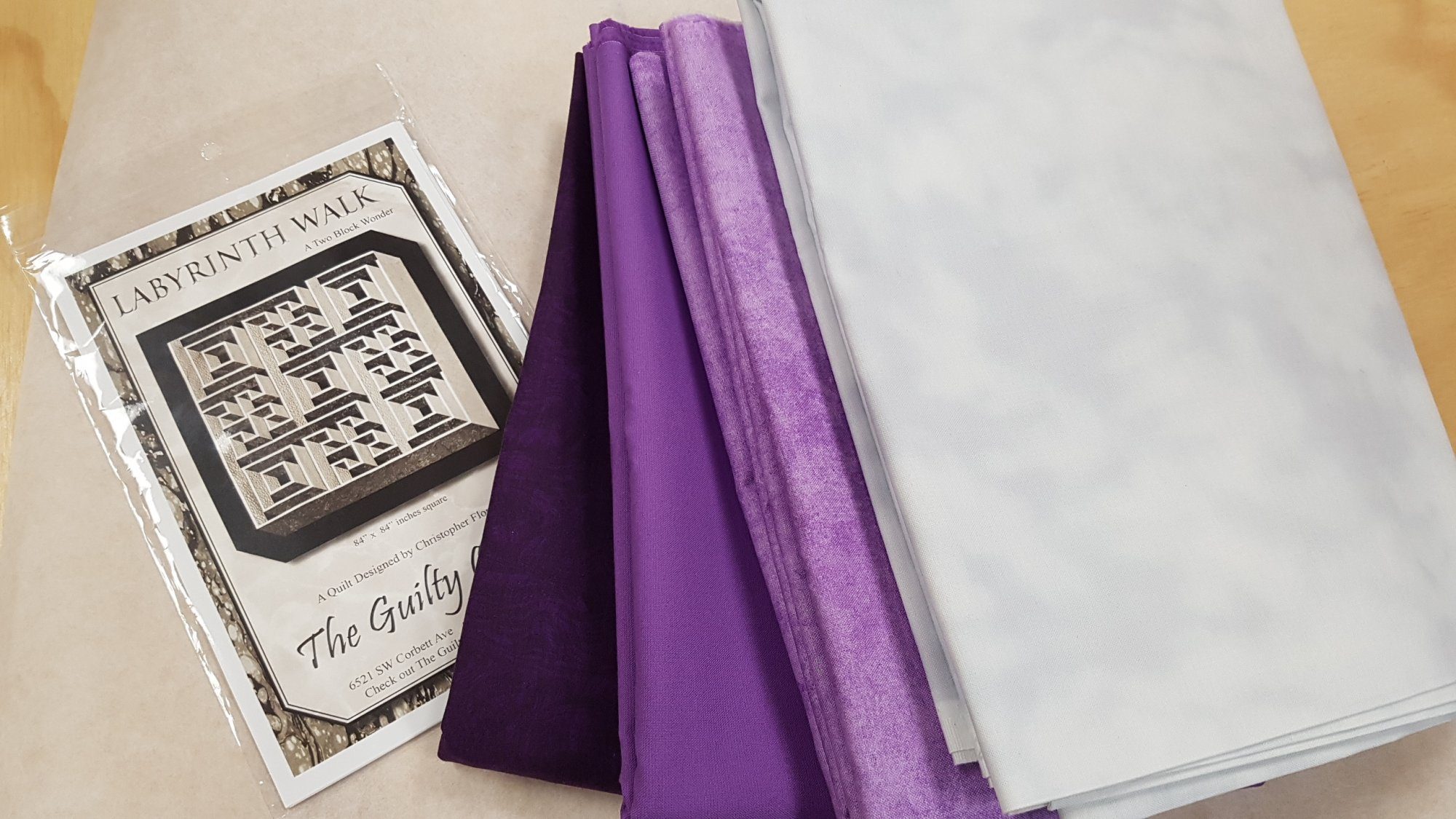 Labyrinth Quilt Kit Purple