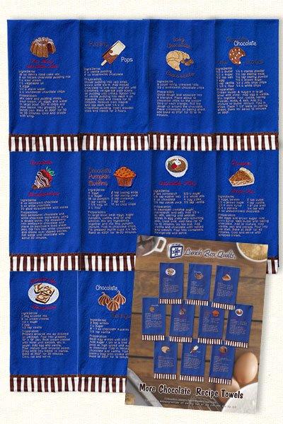 Lunchbox Chocolate Recipe Towels