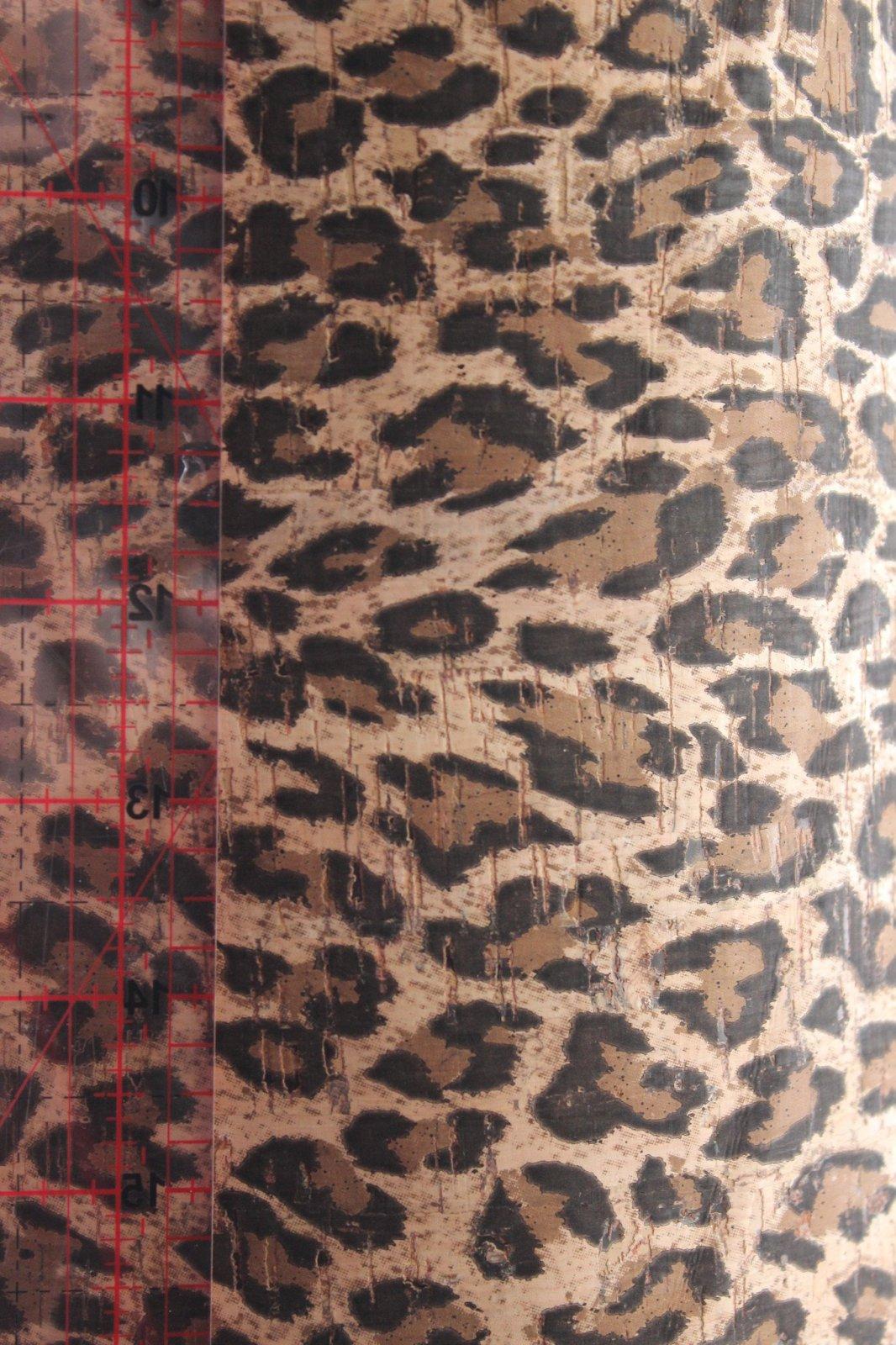 Printed Leopard Cork Fabric (36x36)