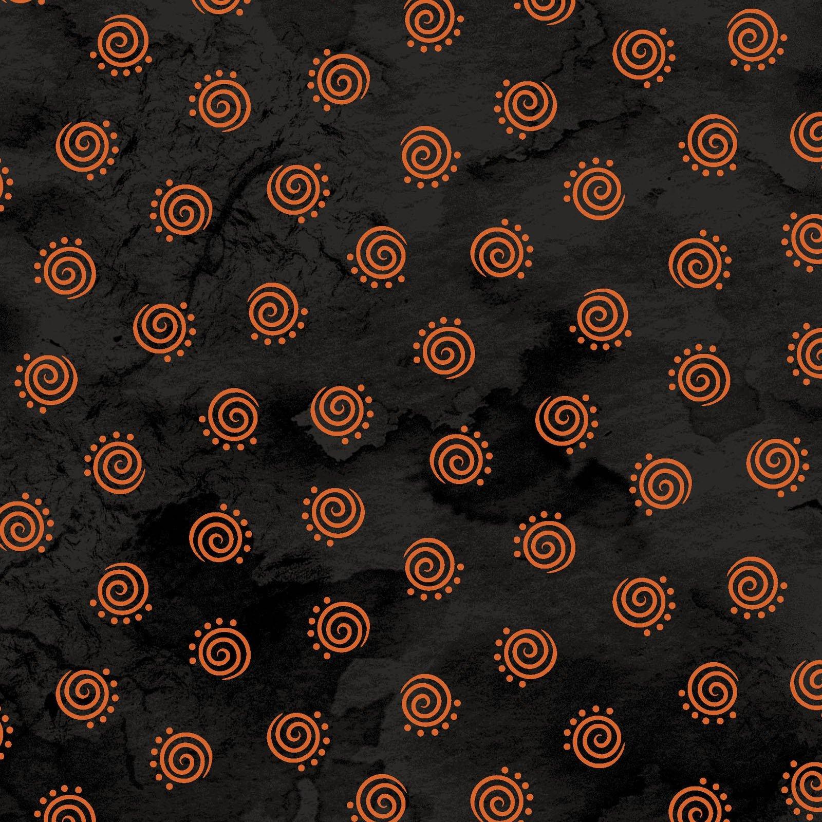 Robin Kingsey - Halloweenie  Geo Swirls Black and Orange