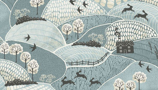 Makower Into the Woods Landscape Blue