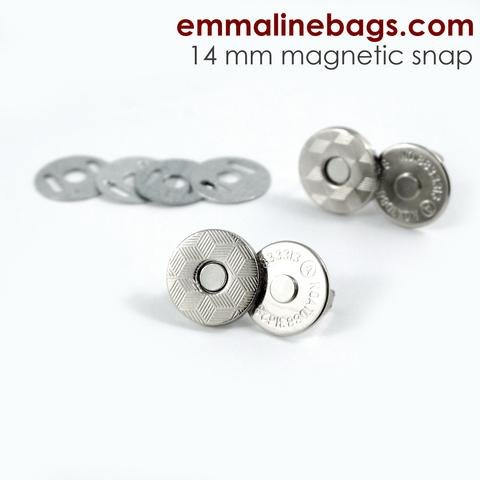 Emmaline Magnetic Snap 9/16 14mm SILVER