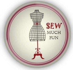 Sewing Themed Glass Magnet - Sew Much Fun