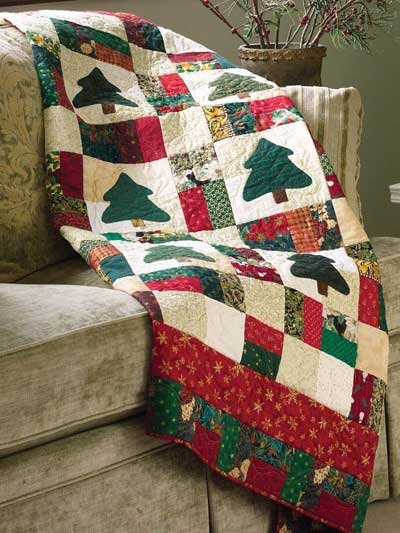 Nine Patch Christmas Quilt (download)