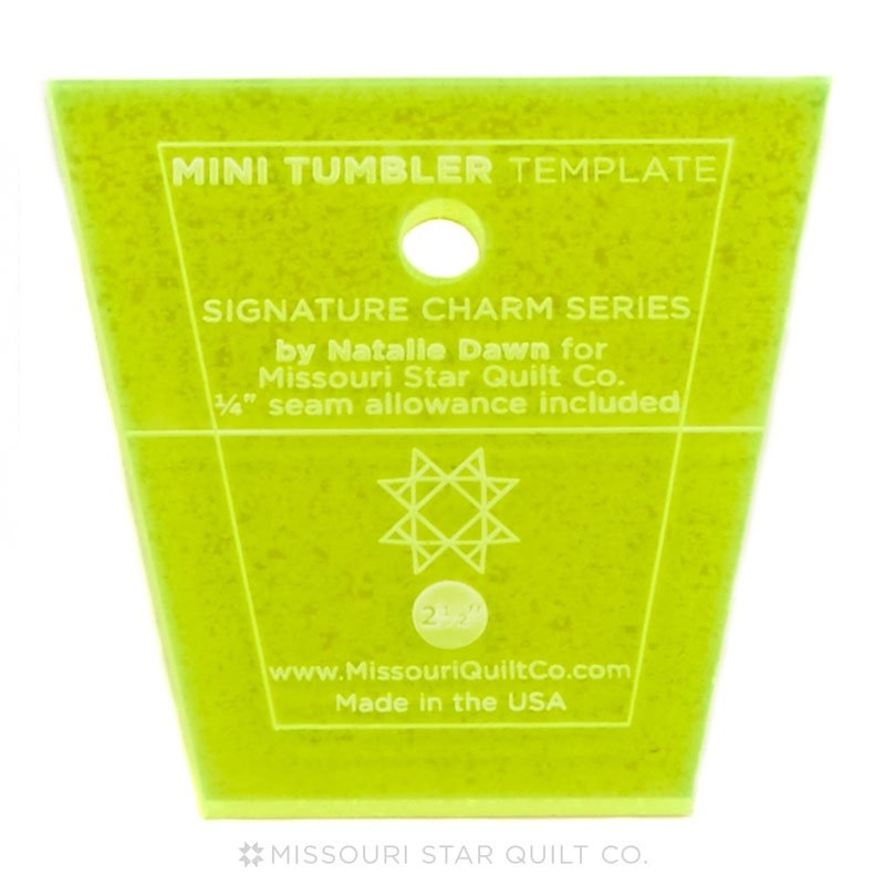 Mini Tumbler Template for 2.5 Mini Charm Pack