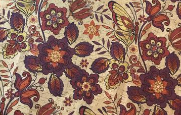 Printed Butterfly Floral Cork Fabric (18x36)