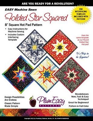 Folded Star Square Hot Pad Pattern