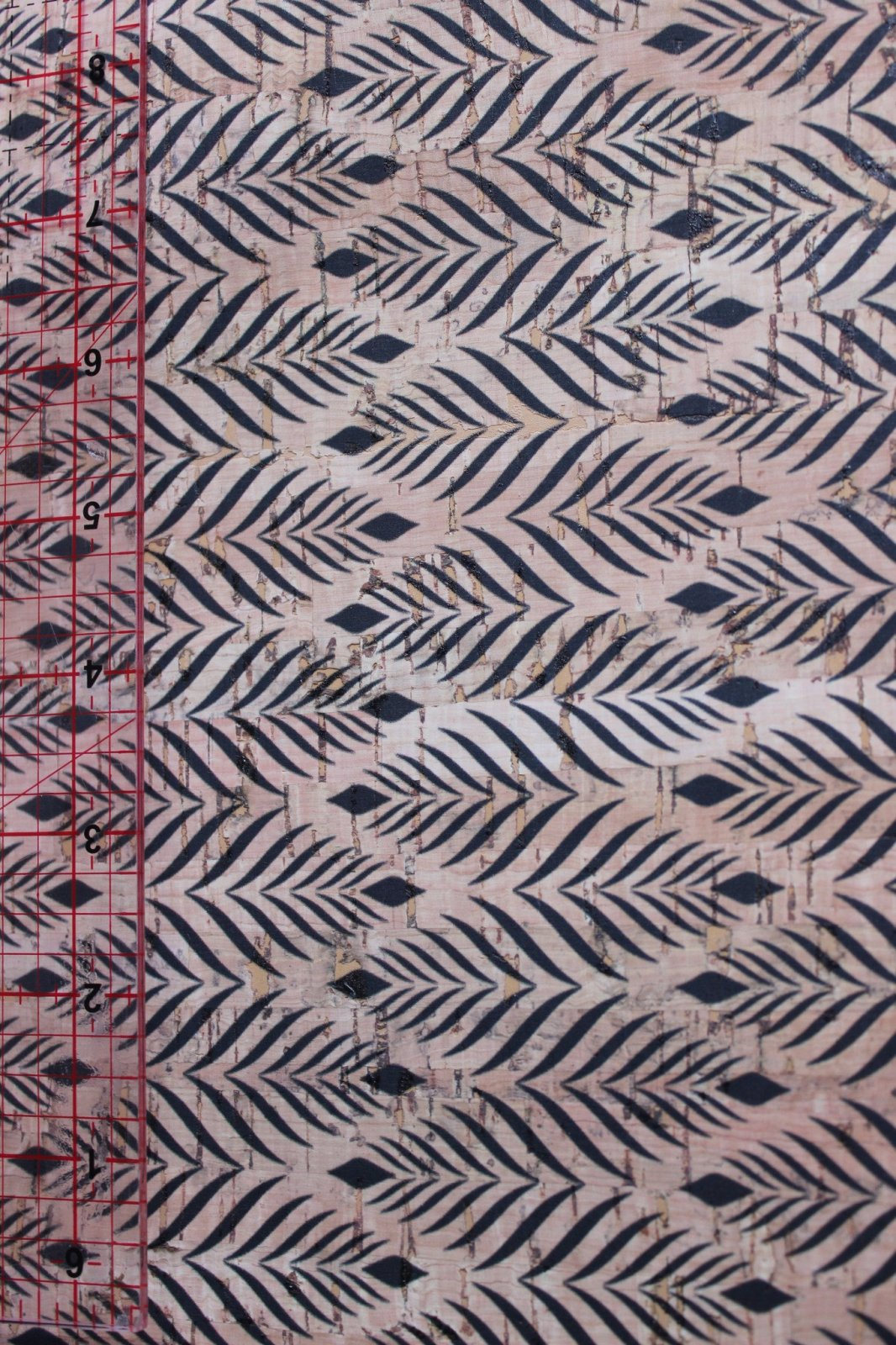 Printed Feathers Cork Fabric (36x36)