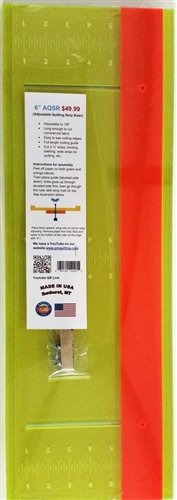 6 AQS Ruler (Adjustable Quilting Strip Ruler) 23 1/2 inches long