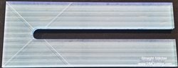 Blue Straight Stitcher Glow Edge Ruler 3 x 7.75 inch Ruler with 1/4 lines