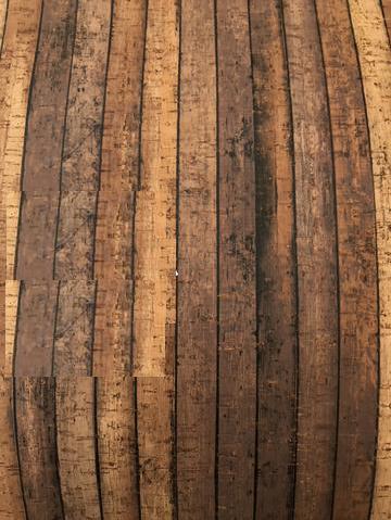 Printed Plank Cork Fabric (18x36)