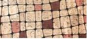 Printed Squares Cork Fabric (18x18)