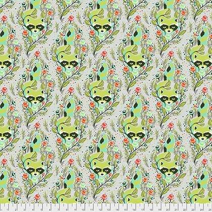 Tula Pink - ALL STARS - Raccoon - Agave