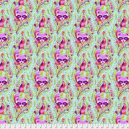 Tula Pink - ALL STARS - Raccoon - Poppy