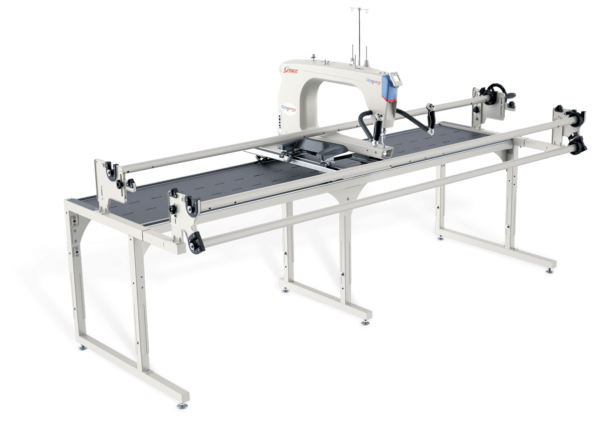 Q'nique 21 21 Long Arm Sewing Machine Combo Options