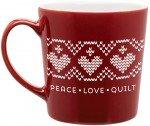Coffee Mugs Peace Love Quilt