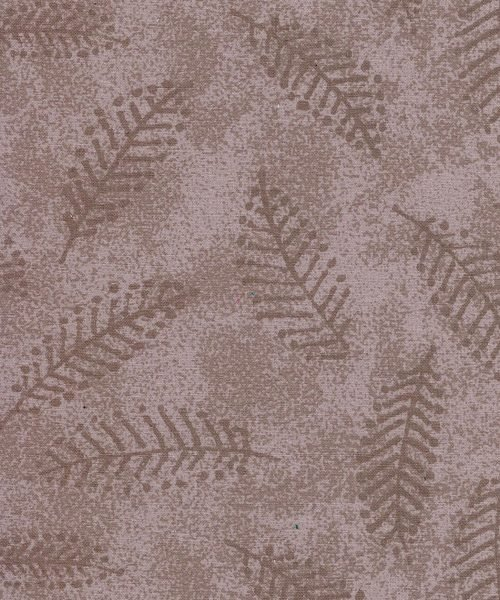 110 in Taupe Ferns Flannel Wide Back