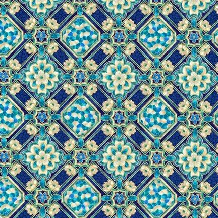 Robert Kaufman Villa Romana 17052 4 Blue
