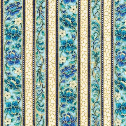 Robert Kaufman Villa Romana 17054 78 Peacock