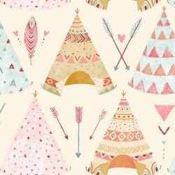Lucie Crovatto Dream Catcher Flannel Cream Tee Pees