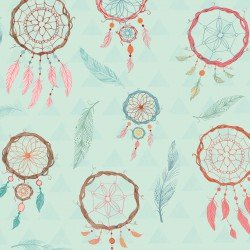 Lucie Crovatto Dream Catcher Flannel Blue Dream Catcher