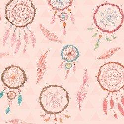 Lucie Crovatto Dream Catcher Flannel Pink Dream Catcher