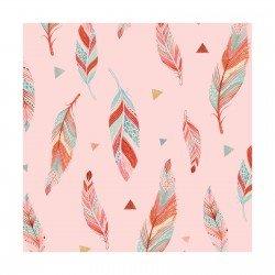 Lucie Crovatto Dream Catcher Flannel Pink Feather
