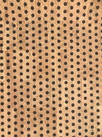 Small Black Polka Dot Cork Fabric (18x18)