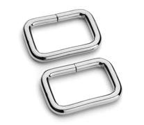 1 (25mm) Silver  Square Ring
