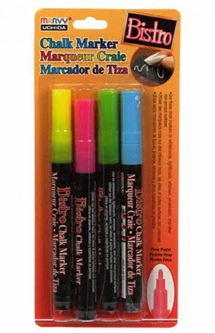 Chalk markers set of 4