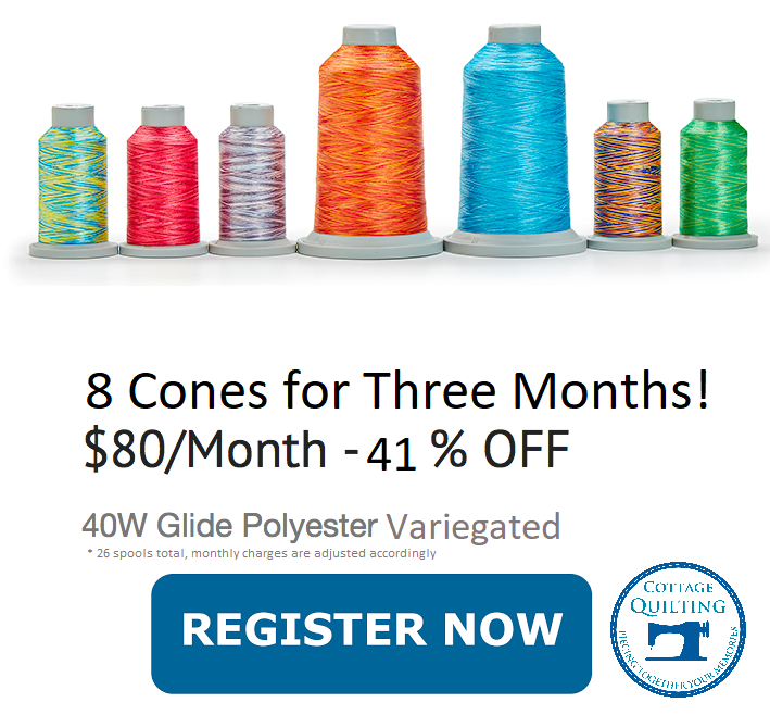 Thread of the Month Glide (8 Spools) Variegated