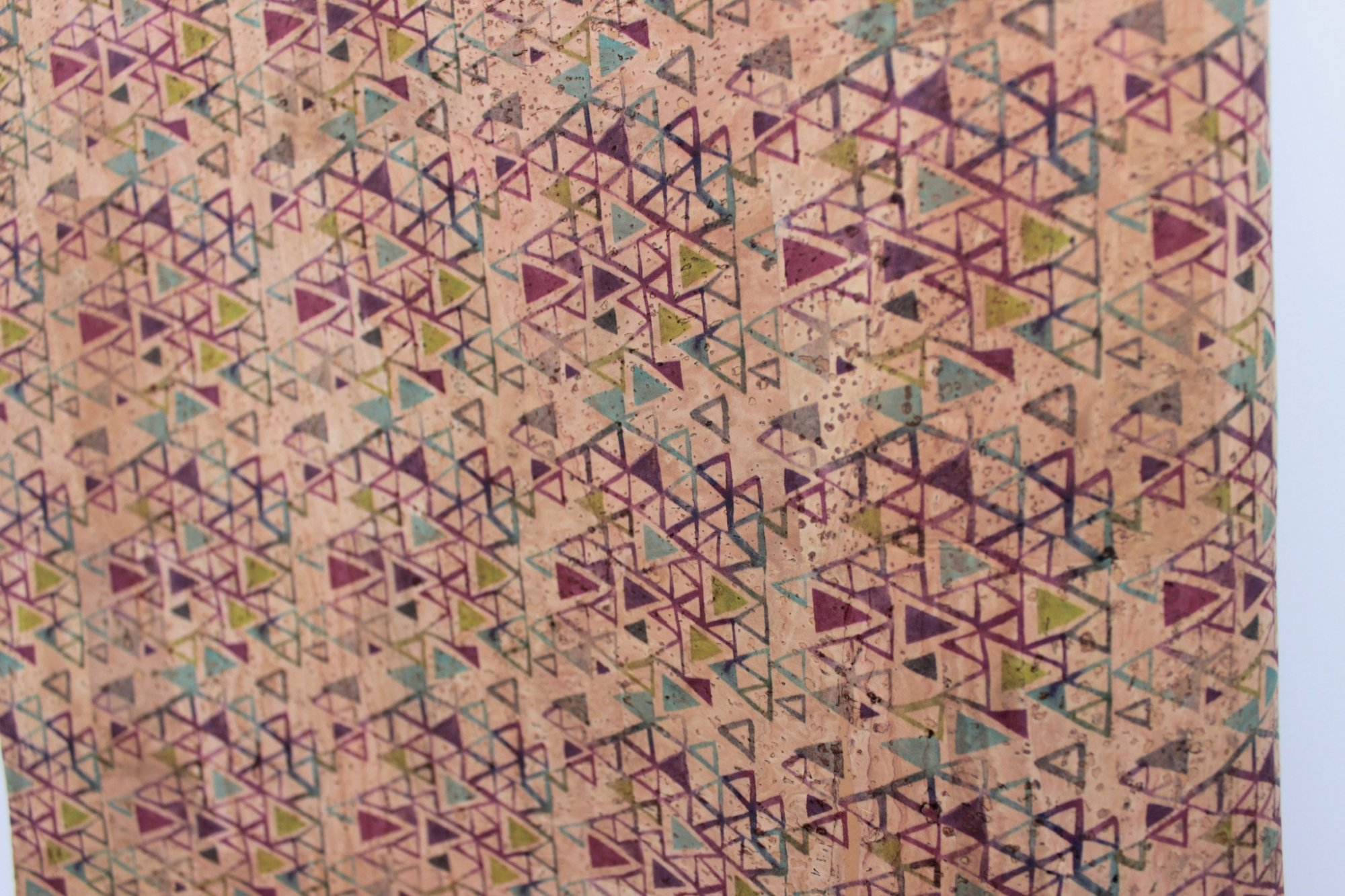 Printed Triangles Cork Fabric (36x36)