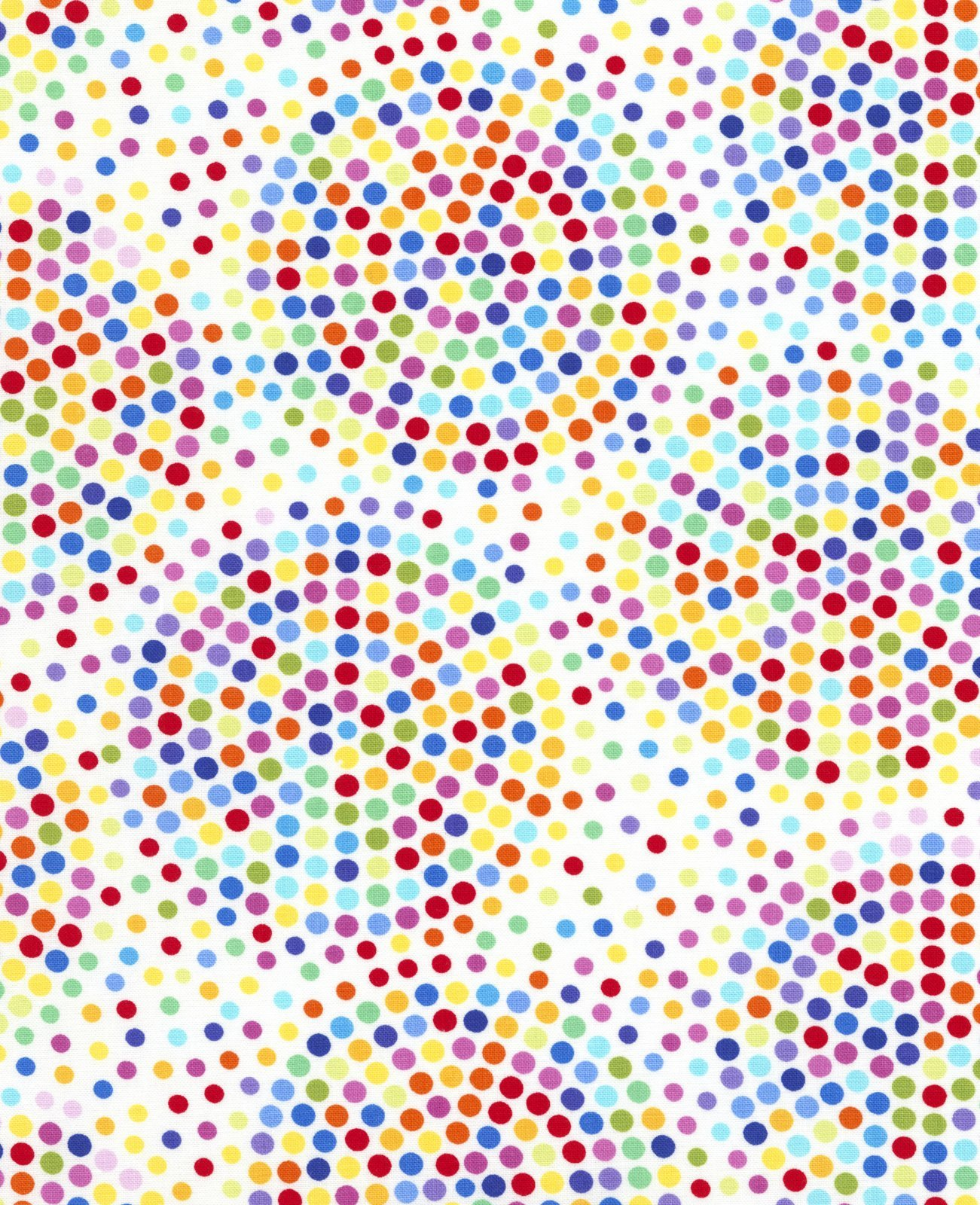 Timeless Treasures Prism 5385 White Multicolor Dots
